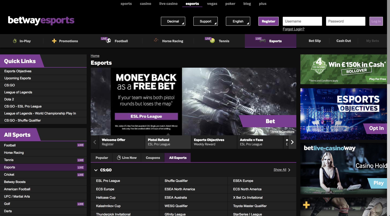 best e sport betting sites