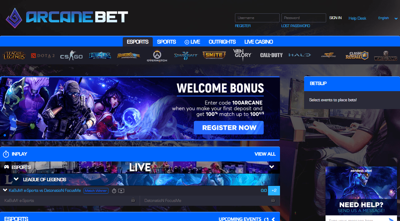 Esports live betting odds white label sports betting
