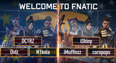 Fnatic announce EU and NA Apex rosters