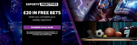 BetWay Objectives - This weeks free esports bets