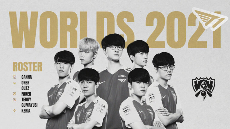 T1 Reveal Roster for The 2021 LoL World Championship